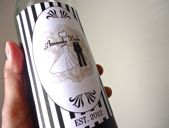 5 easy ways to personalize the wedding DIY weddings custom wine labels