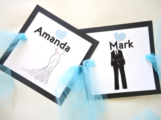 5 easy ways to personalize the wedding DIY weddings bride groom stickers
