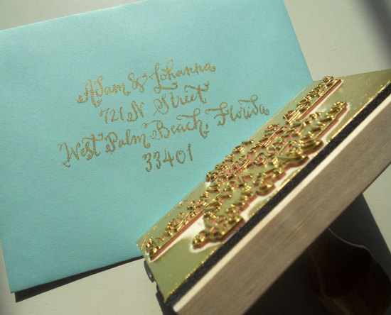 5 easy ways to personalize the wedding DIY weddings calligraphy stamp