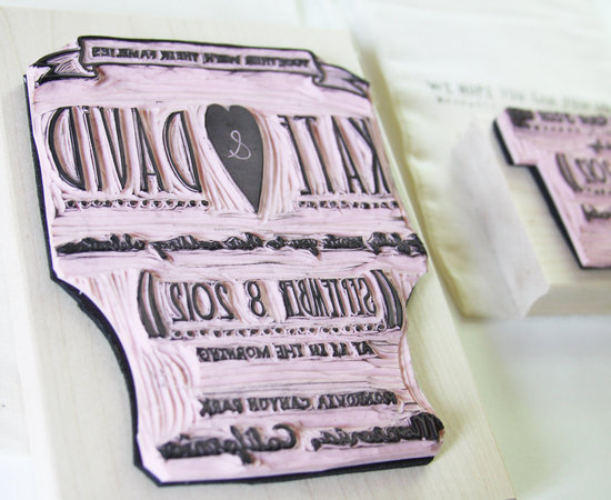 custom wedding ideas RSVP stamp