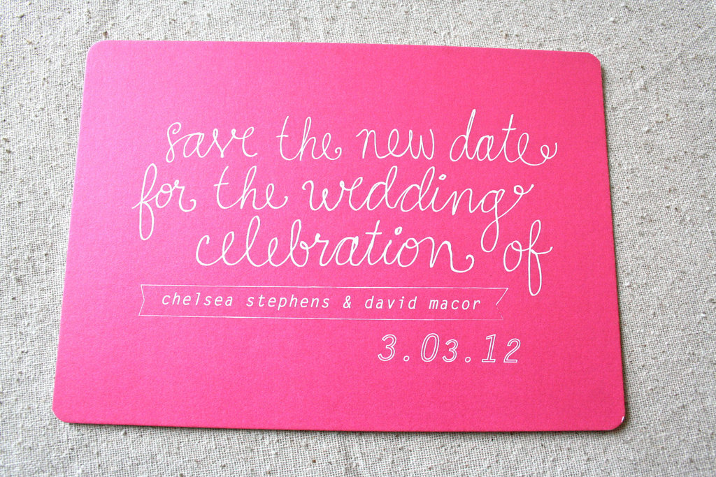 bold wedding ideas electric colors hot pink save the date