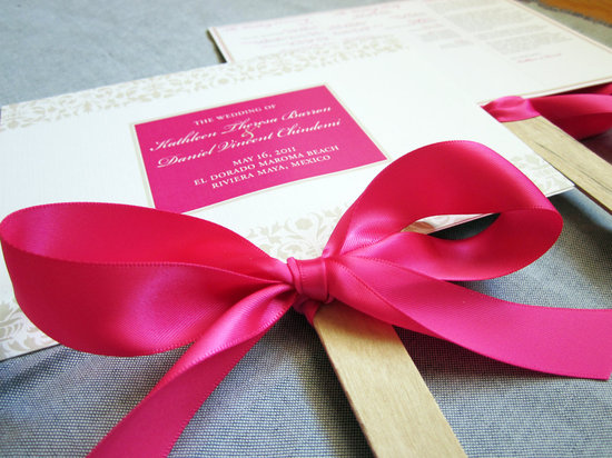 bold wedding ideas electric colors hot pink programs