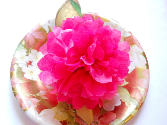bold wedding ideas electric colors pink napkin rings