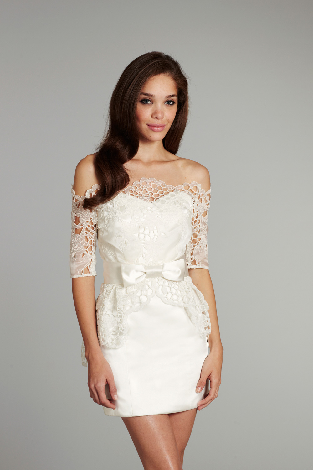 bridal gown wedding dress jlm hayley paige fall 2012 ellie front