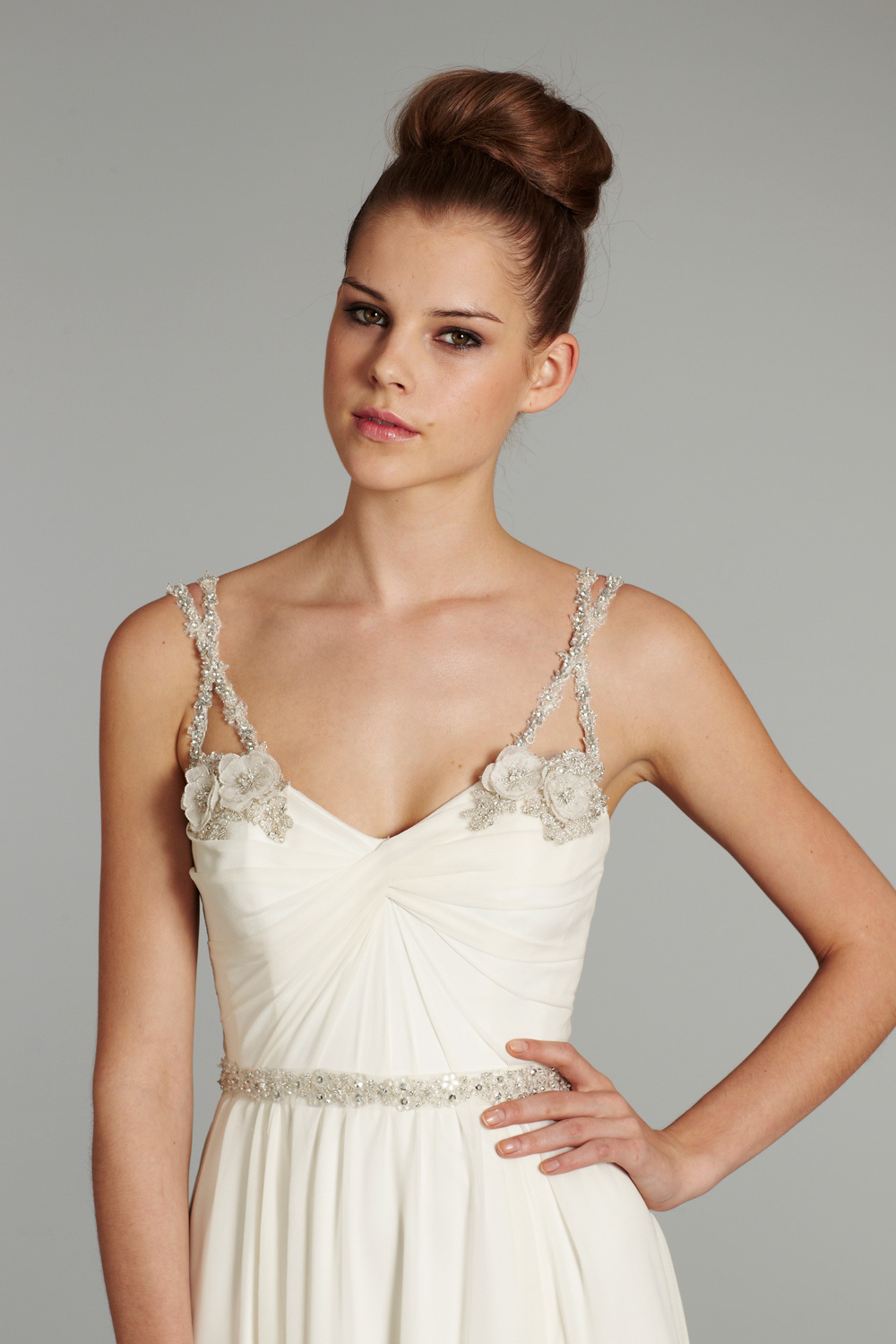 bridal gown wedding dress jlm hayley paige fall 2012 nina front