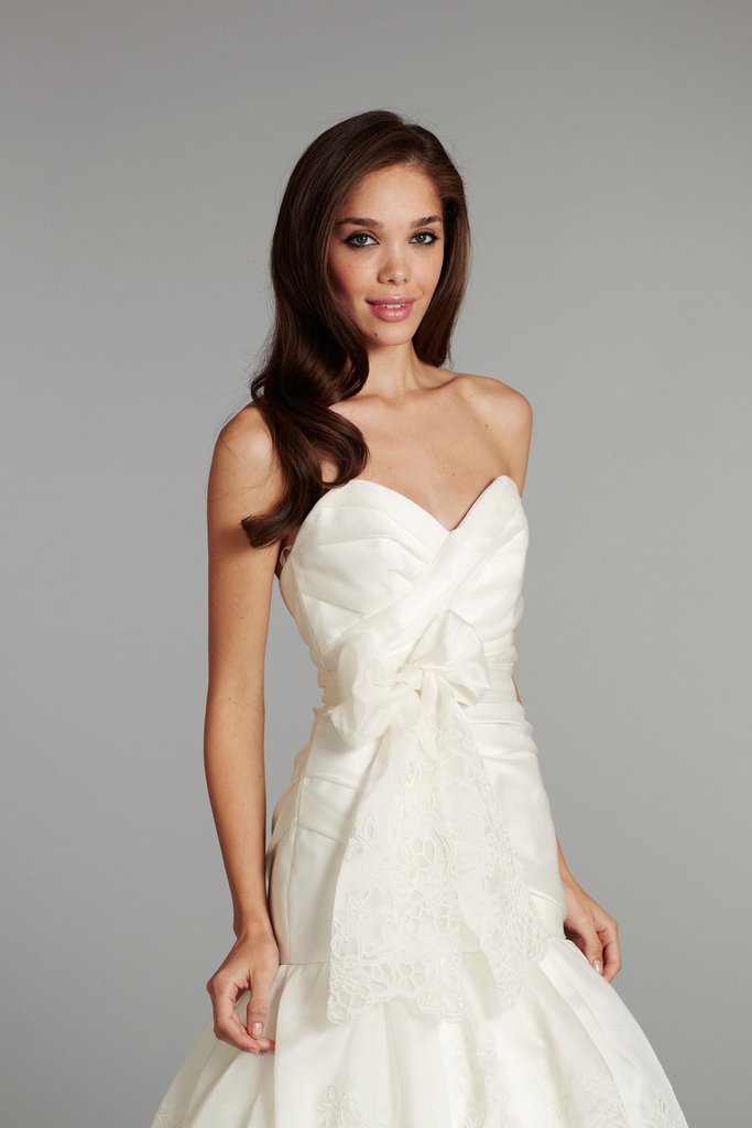 photo of bridal gown wedding dress jlm hayley paige fall 2012 savannah front