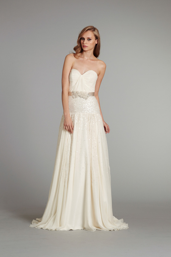 bridal gown wedding dress jlm hayley paige fall 2012 prima front