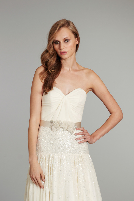 photo of bridal gown wedding dress jlm hayley paige fall 2012 prima front