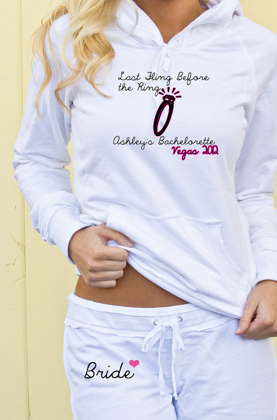 9 awesome bachelorette party gifts white sweat suit