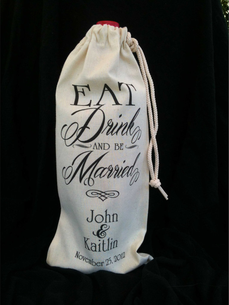 photo of awesome bachelorette party gifts wine and personalized bag