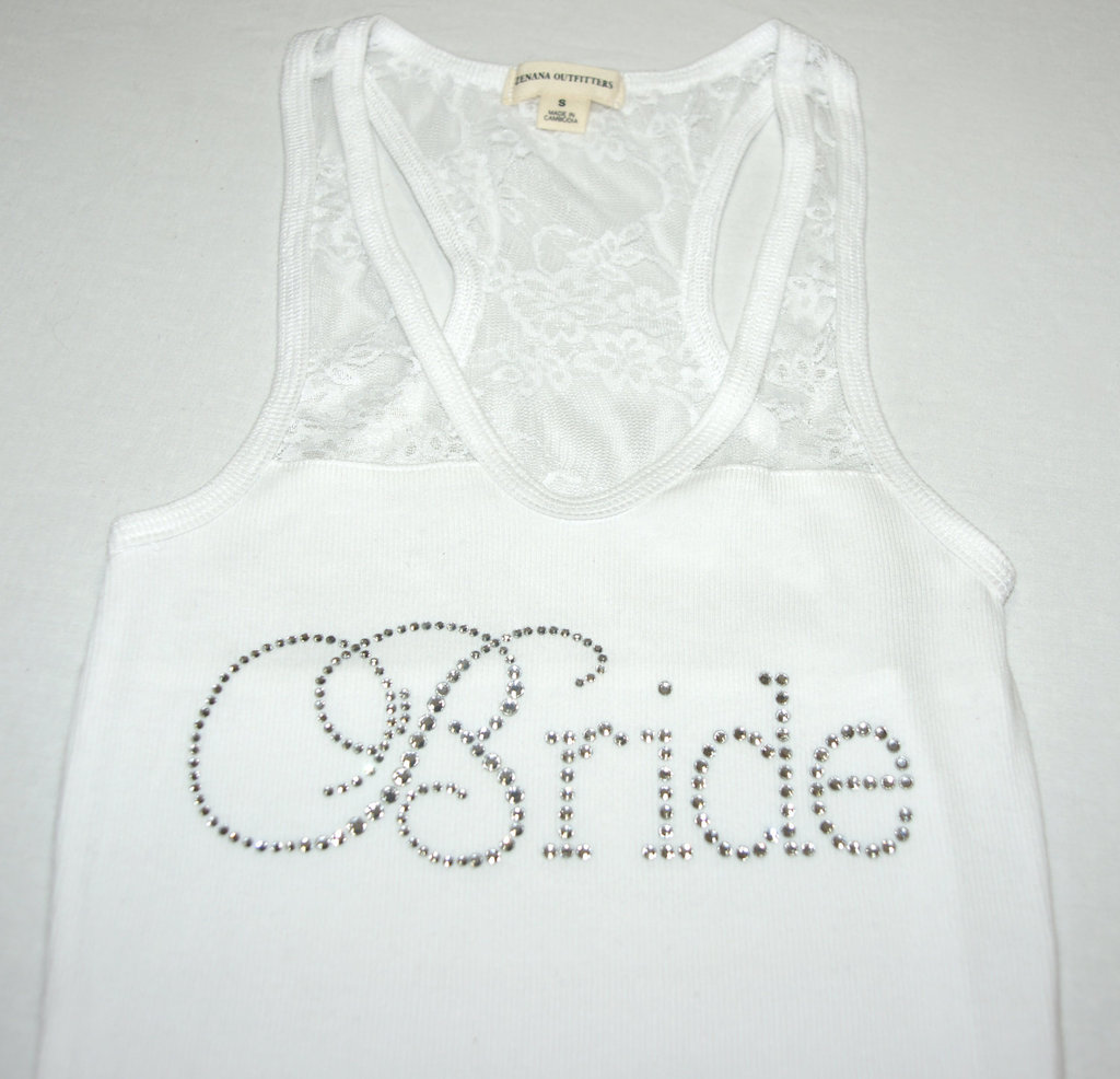 generic bachelorette party gift Bride tank
