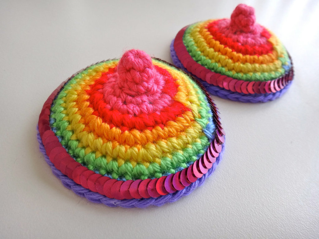 scary bridesmaids gifts crocheted pasties