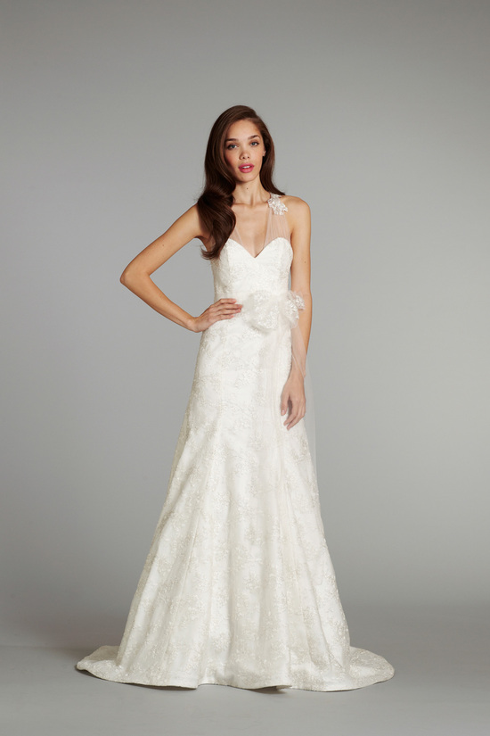 bridal gown wedding dress jlm hayley paige blush fall 2012 amaryllis front