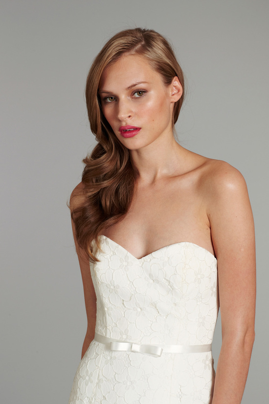 bridal gown wedding dress jlm hayley paige blush fall 2012 poppy front