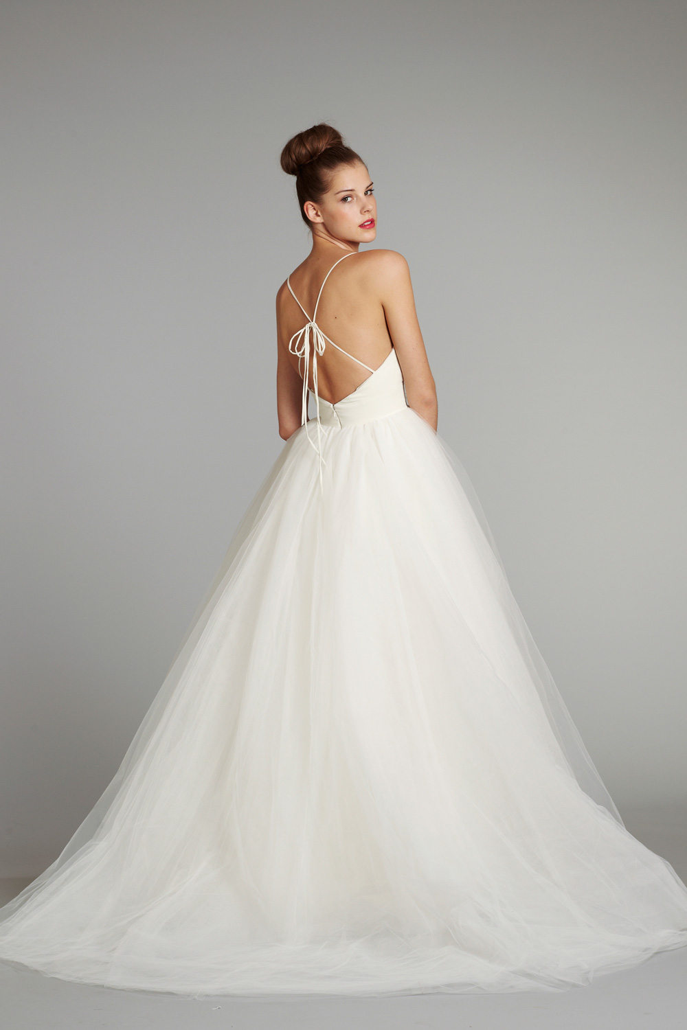 Bridal gown wedding dress jlm hayley paige blush fall 2012 for White and lilac wedding dress