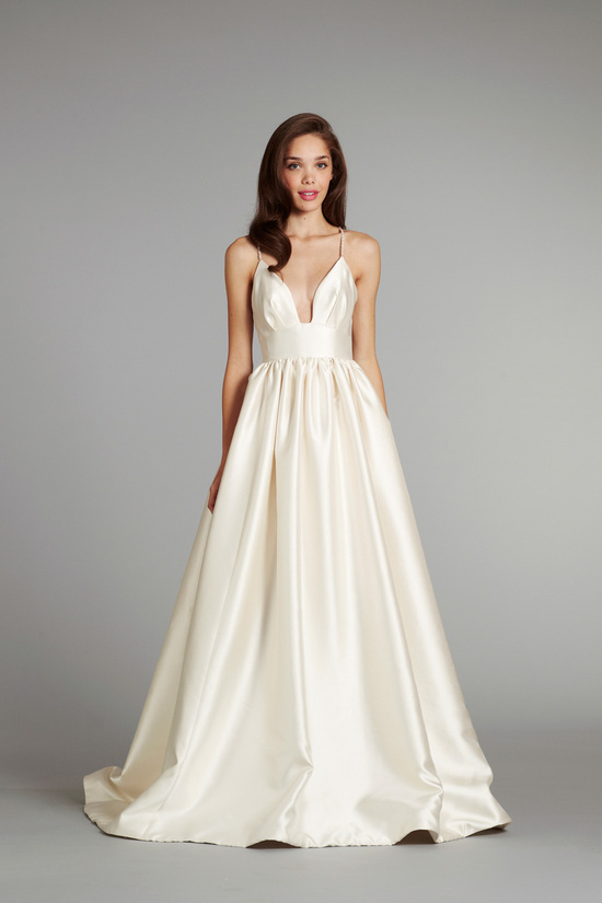 bridal gown wedding dress jlm hayley paige blush fall 2012 maple front