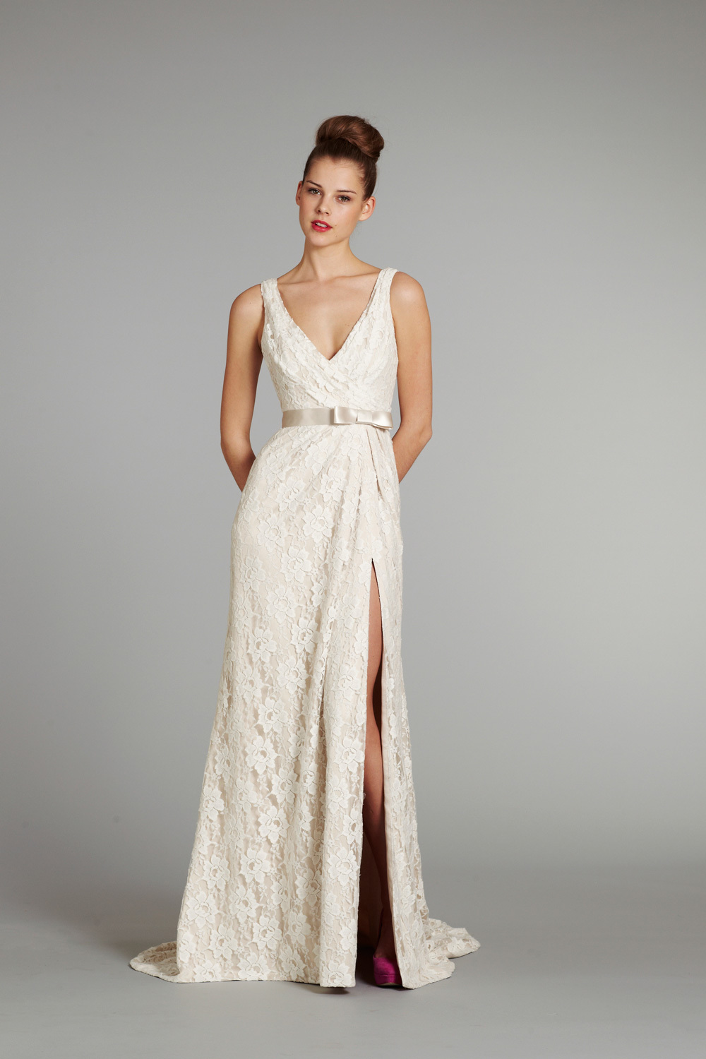 bridal gown wedding dress jlm hayley paige blush fall 2012 saffron front