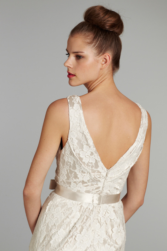 bridal gown wedding dress jlm hayley paige blush fall 2012 sage detail
