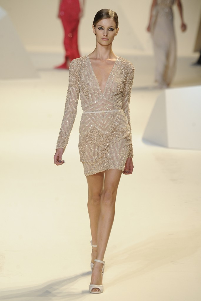 nearly white gowns perfect for the wedding Fashion Week inspiration Elie Saab 5