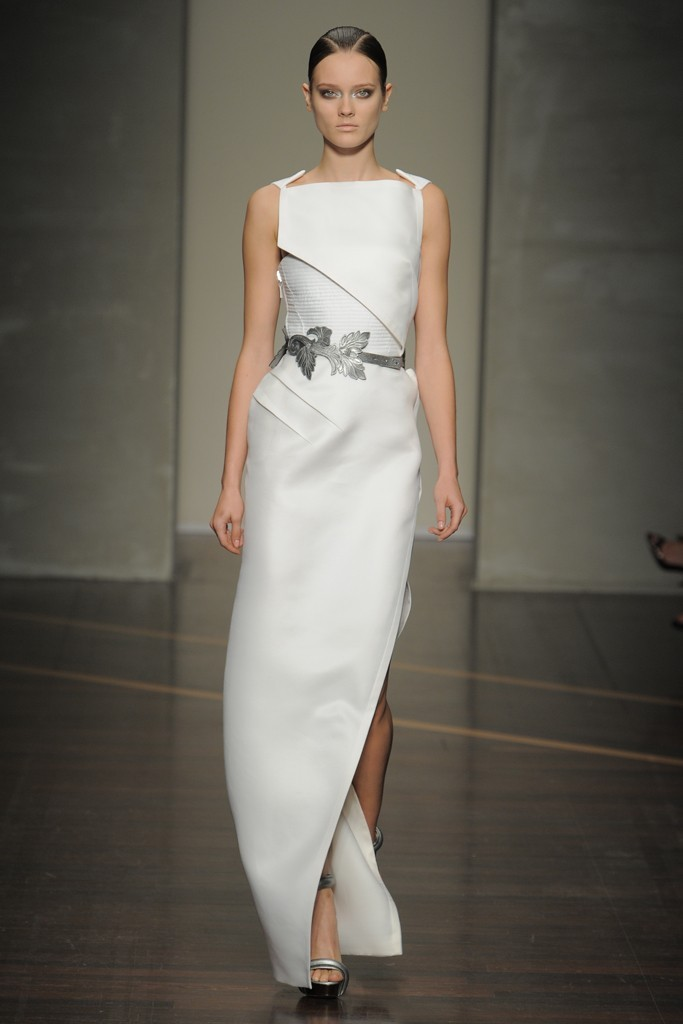 photo of nearly white gowns perfect for the wedding Fashion Week inspiration gianfranco ferre