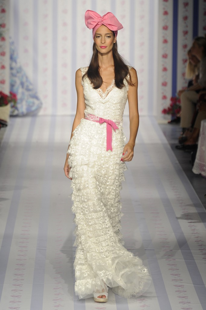 photo of nearly white gowns perfect for the wedding Fashion Week inspiration Luisa Beccaria 2