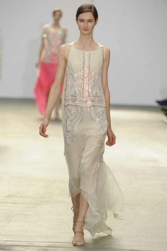 nearly white gowns perfect for the wedding Fashion Week inspiration antonio berardi