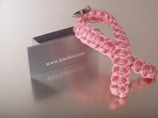 something pink for the charitable bride breast cancer awareness keychain