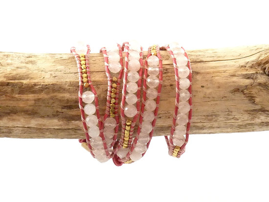 something pink for the charitable bride breast cancer awareness wrap bracelet