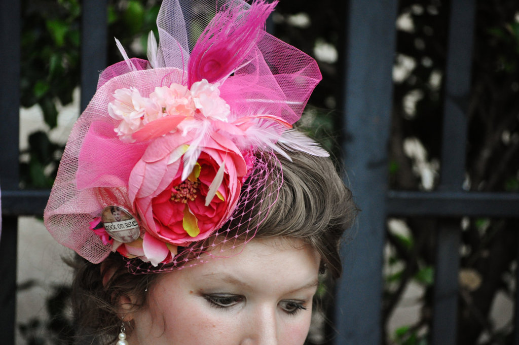 something pink for the charitable bride breast cancer awareness fascinator
