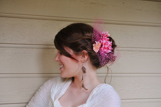 something pink for the charitable bride breast cancer awareness bridal fascinator
