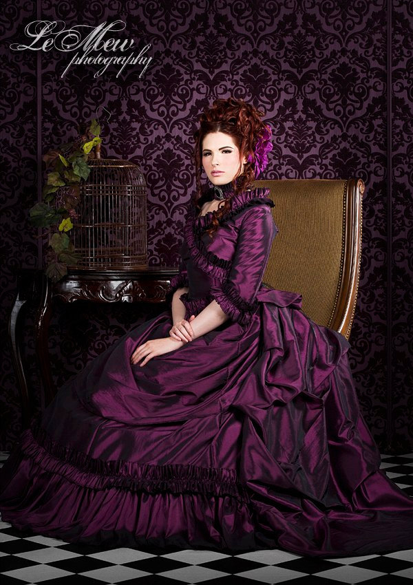 gothic wedding style handmade bridal gowns in bold colors 1