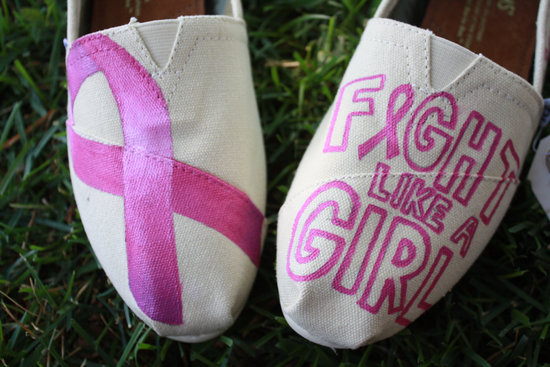 photo of something pink for the charitable bride breast cancer awareness TOMS