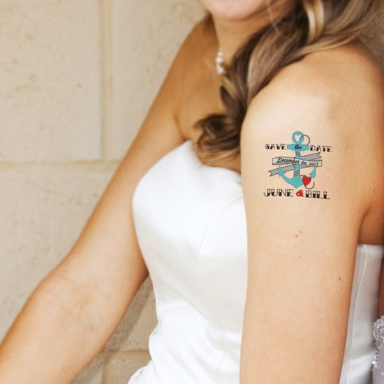 wedding save the dates 5 more brilliant ideas temporary tattoos