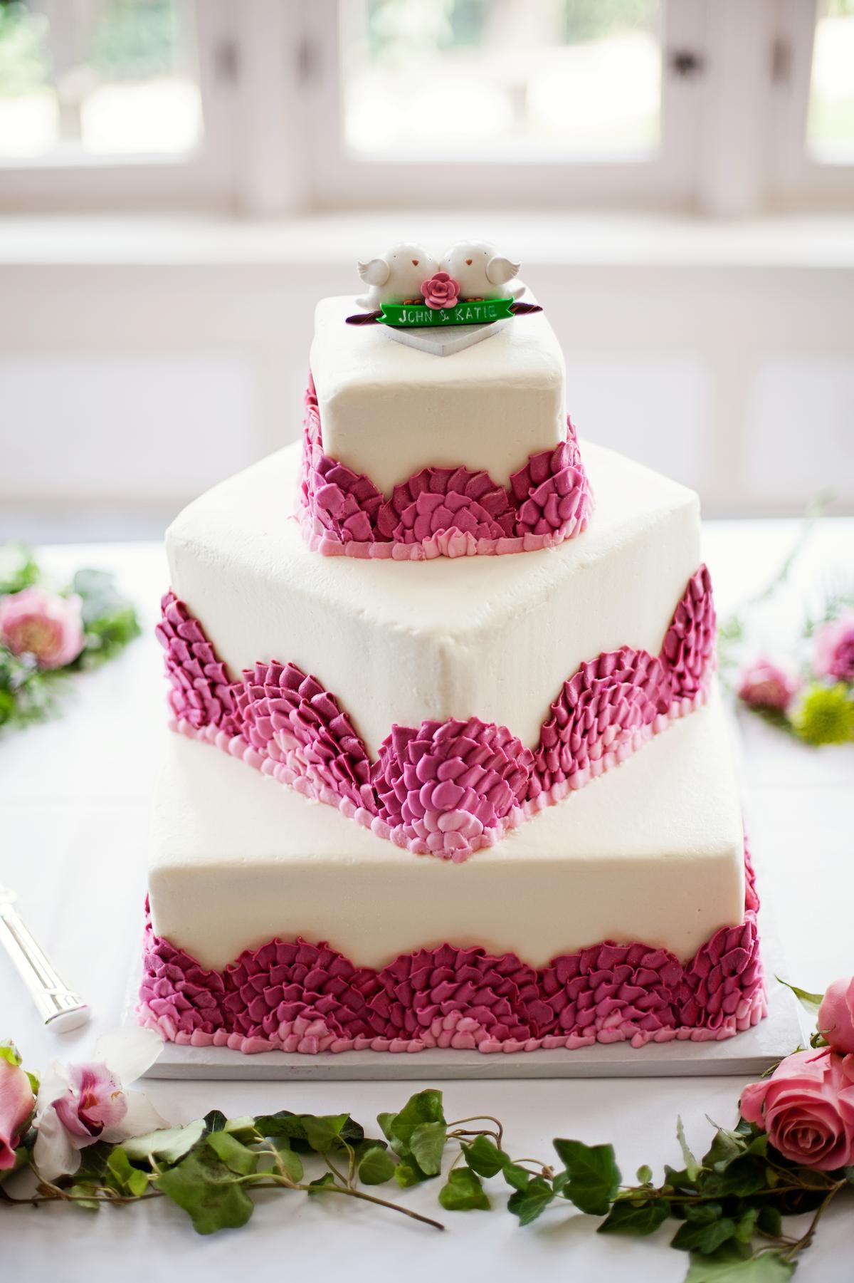 kansas city wedding ombre detail wedding cake personalized cocktail napkins. Black Bedroom Furniture Sets. Home Design Ideas