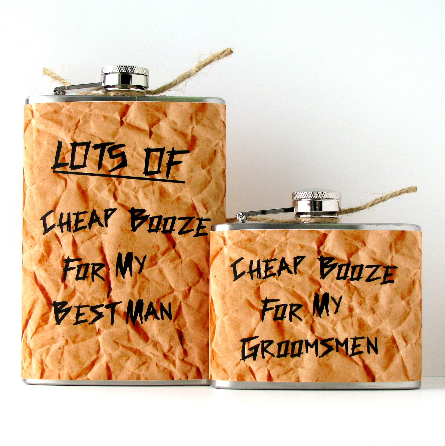 Funniest Wedding Gifts: 5 Funny Gifts For Groomsmen Cheap Booze Flasks