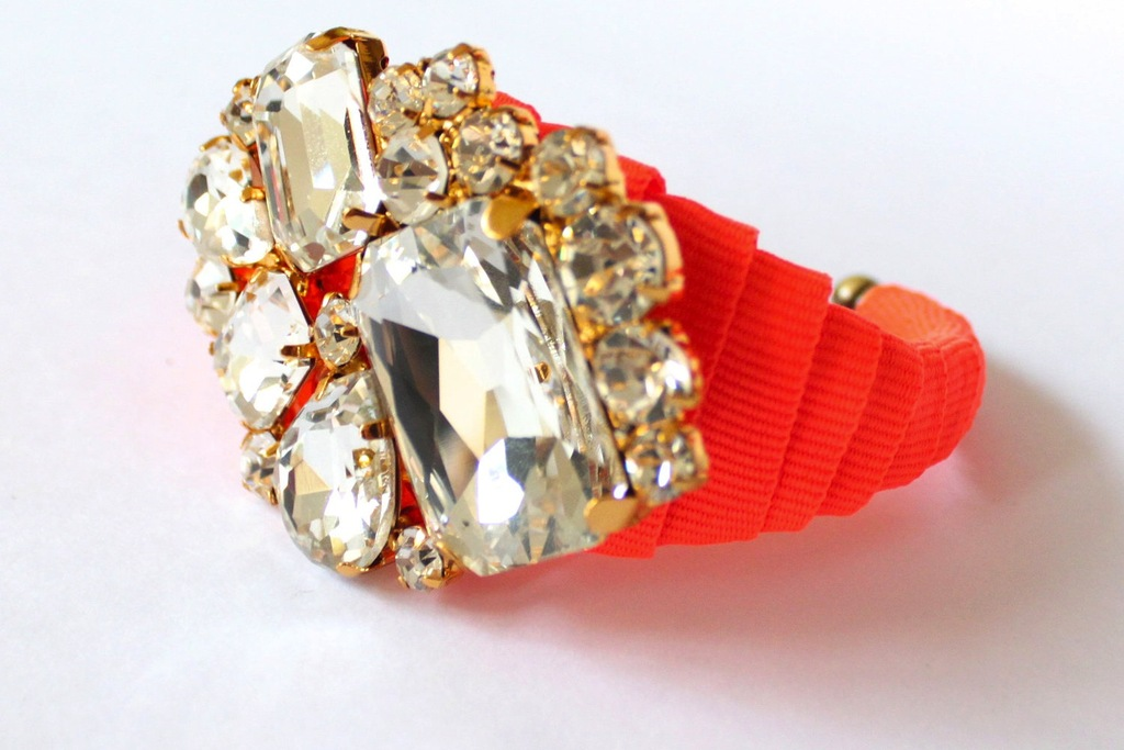Bejeweled-bride-wedding-accessories-neon-coral-bracelet.full
