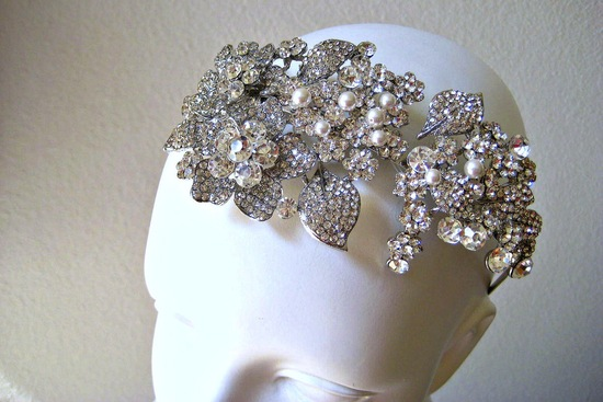 bejeweled bride wedding accessories bridal crown