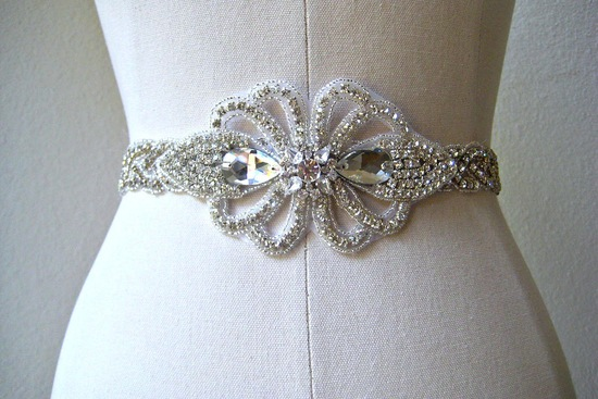 bejeweled bride wedding accessories bridal belt vintage inspired