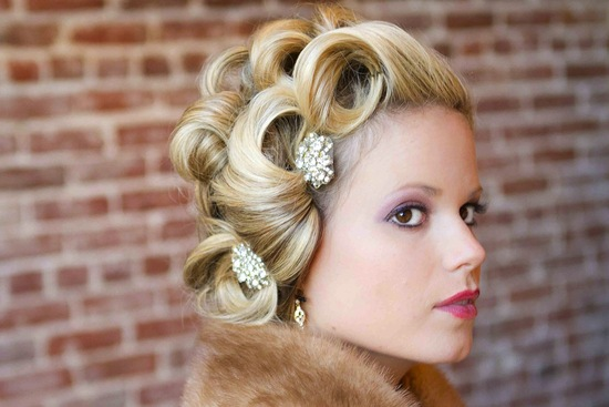 bejeweled bride wedding accessories vintage hair pins