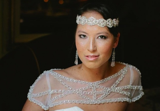 photo of beaded bridal shrug