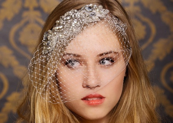 bejeweled bride wedding accessories veil
