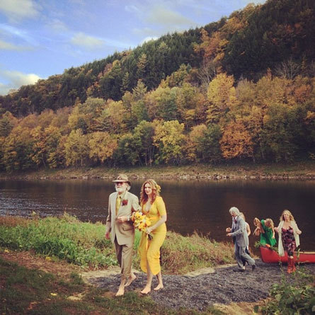 real wedding amber tamblyn david cross upstate new york instagram 4