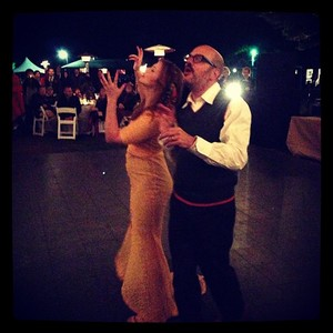 photo of real wedding amber tamblyn david cross upstate new york instagram first dance 9