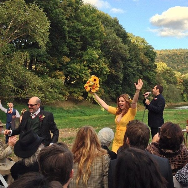 Real-wedding-amber-tamblyn-david-cross-upstate-new-york-instagram-yellow-dress-5.full