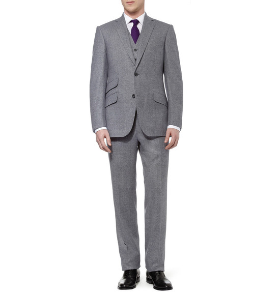 wedding tuxedo alternatives for modern grooms gray purple tie