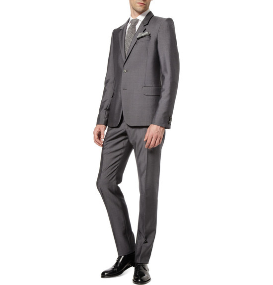 wedding tuxedo alternatives for modern grooms Alexander McQueen silver
