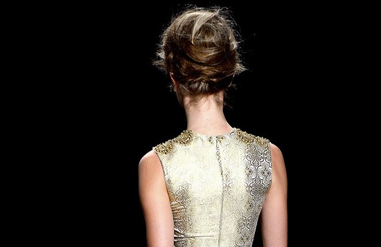 bridal updo wedding hair inspiration fashion week vera wang 2