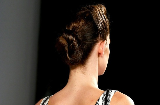 bridal updo wedding hair inspiration fashion week suno 7