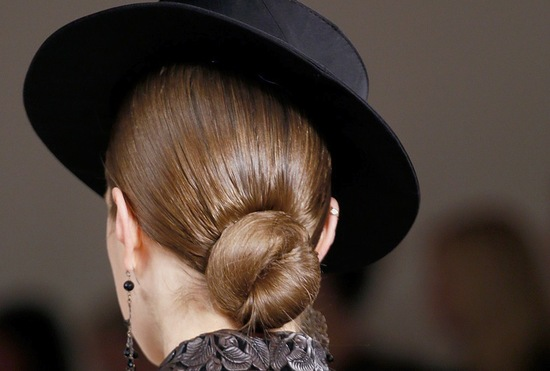 bridal updo wedding hair inspiration fashion week ralph lauren 5