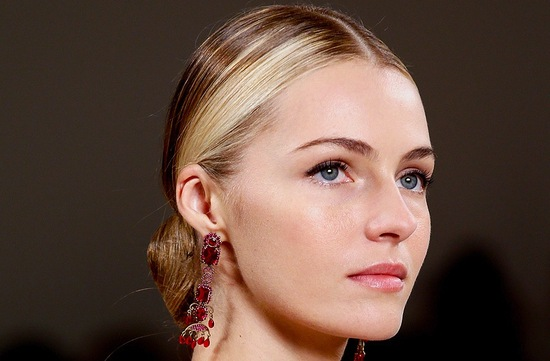 bridal updo wedding hair inspiration fashion week ralph lauren 6